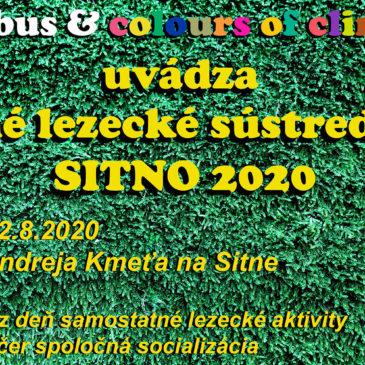 Letné lezecké sústredenie SITNO 2020